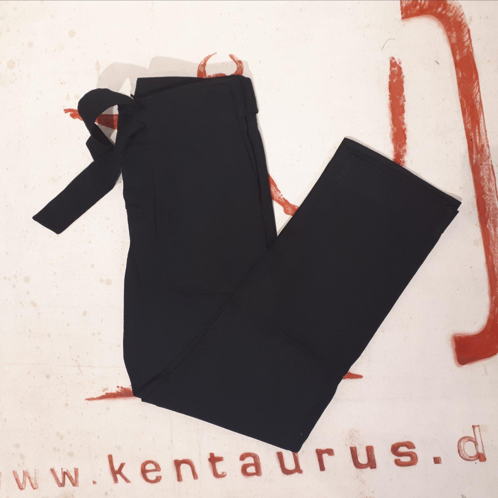 Hansen:  teo casual tie trousers, cotton, black