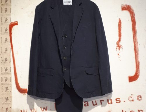 Hansen : 3 piece suit blue wash