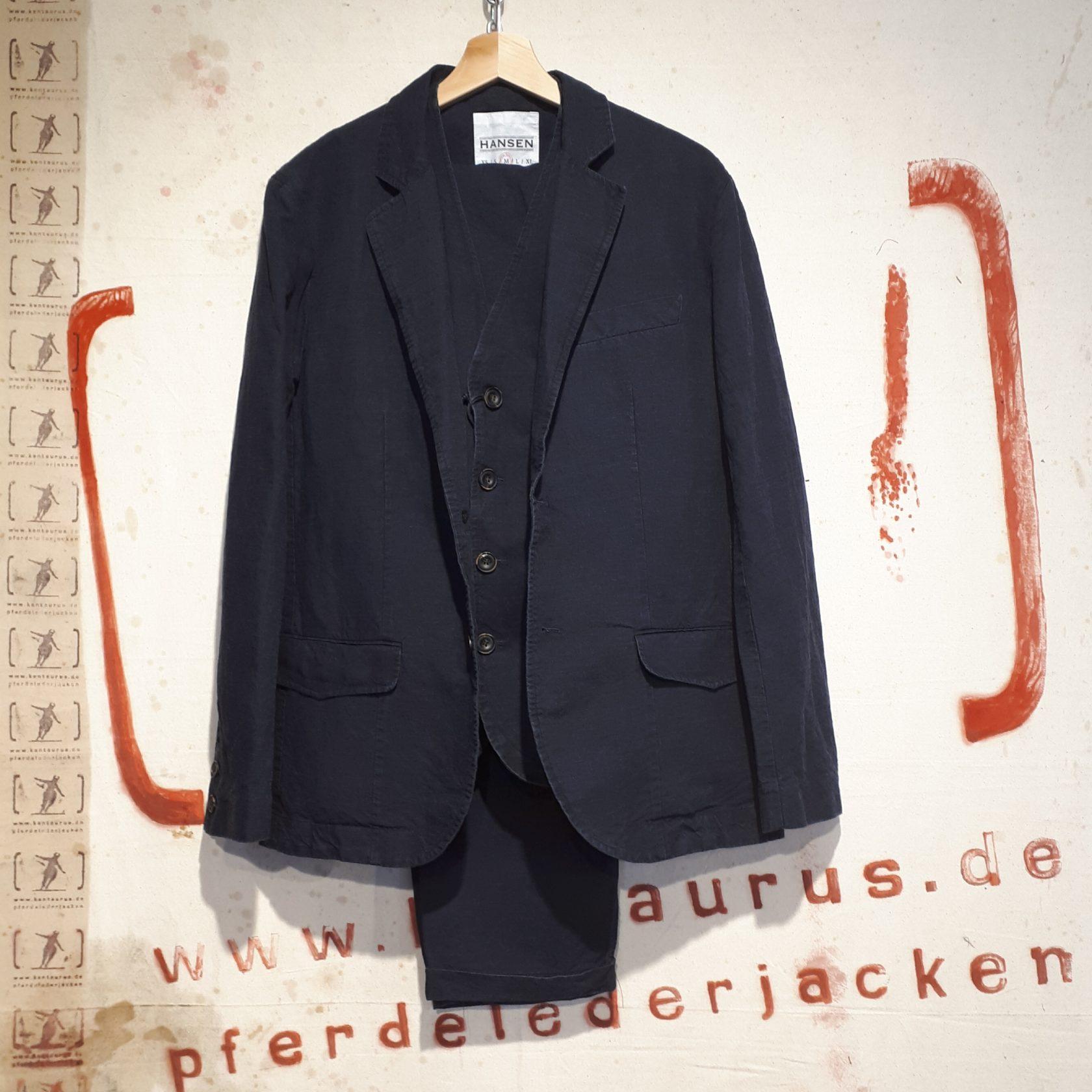 Hansen : 3 piece suit blue wash