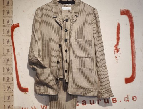 Hansen SS2018 3 piece suit, Linen stripe