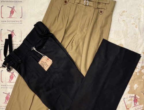 Adjustable Costume gurkha pants black and khaki cotton twill