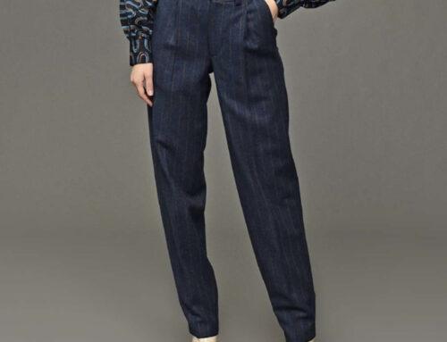 Salvatore Piccolo marcello wool pant blue stripe
