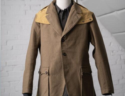 MotivMfg inverness hunting jacket bedford cord cotton nylon dark fawn