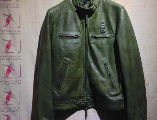 Blauer cafe racer jacket green