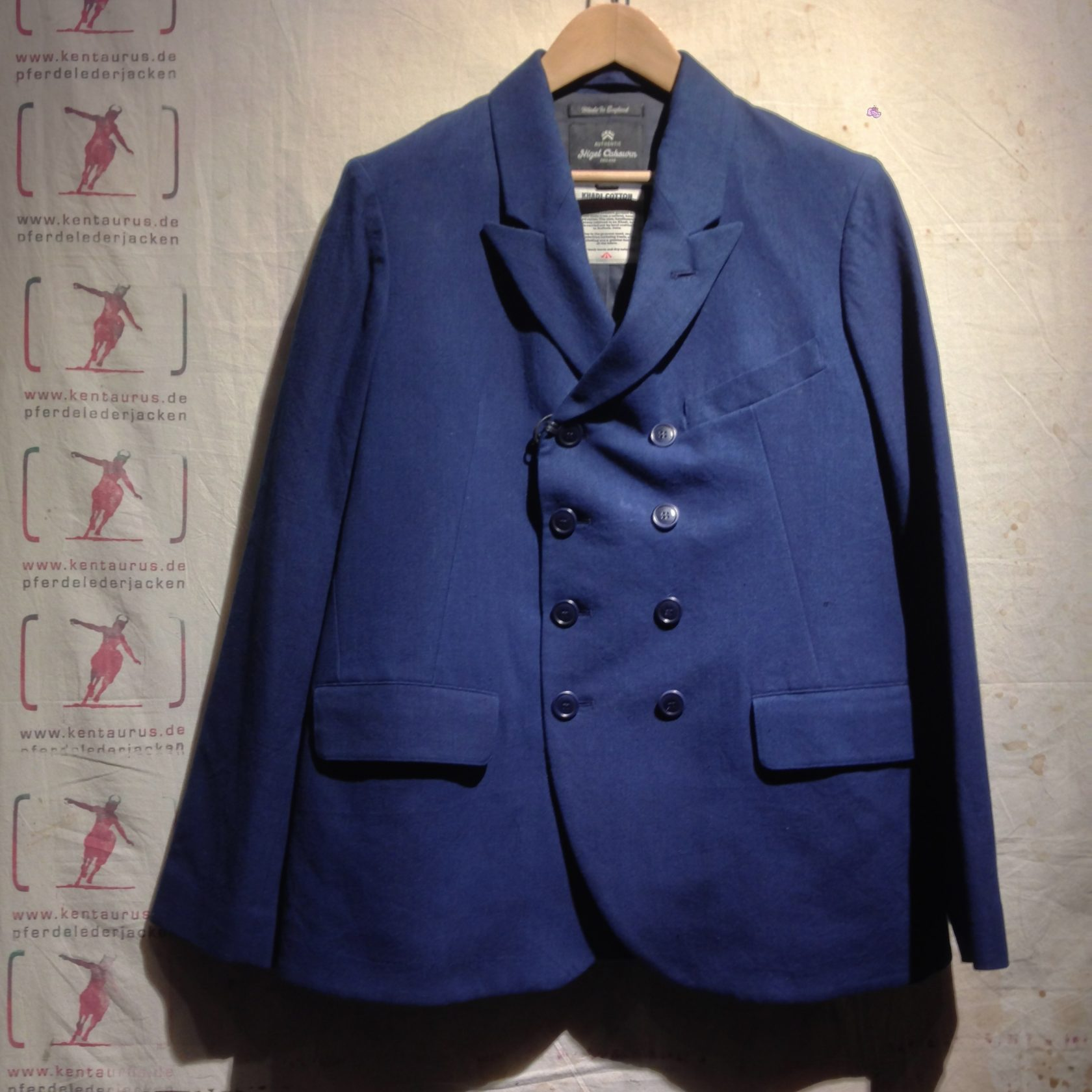 Nigel cabourn DB Jacket indigo SS14