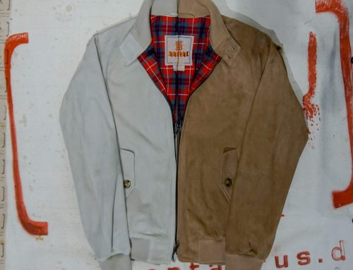 Baracuta G-9 suede leather