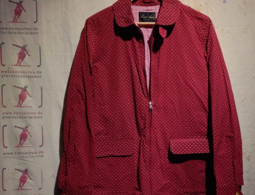 Haversack  red rain jacket