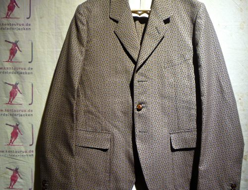 Haversack cotton jacket with dots