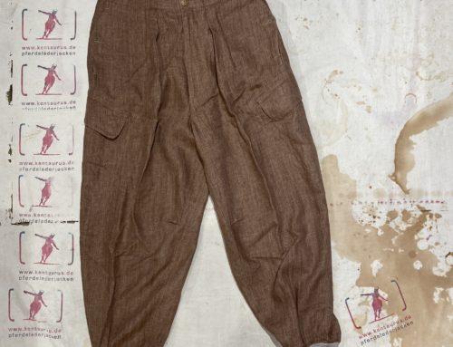 MotivMfg   linen ski trousers brick