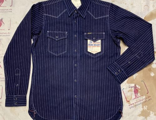 IHSH-62  12oz wabash western shirt indigo