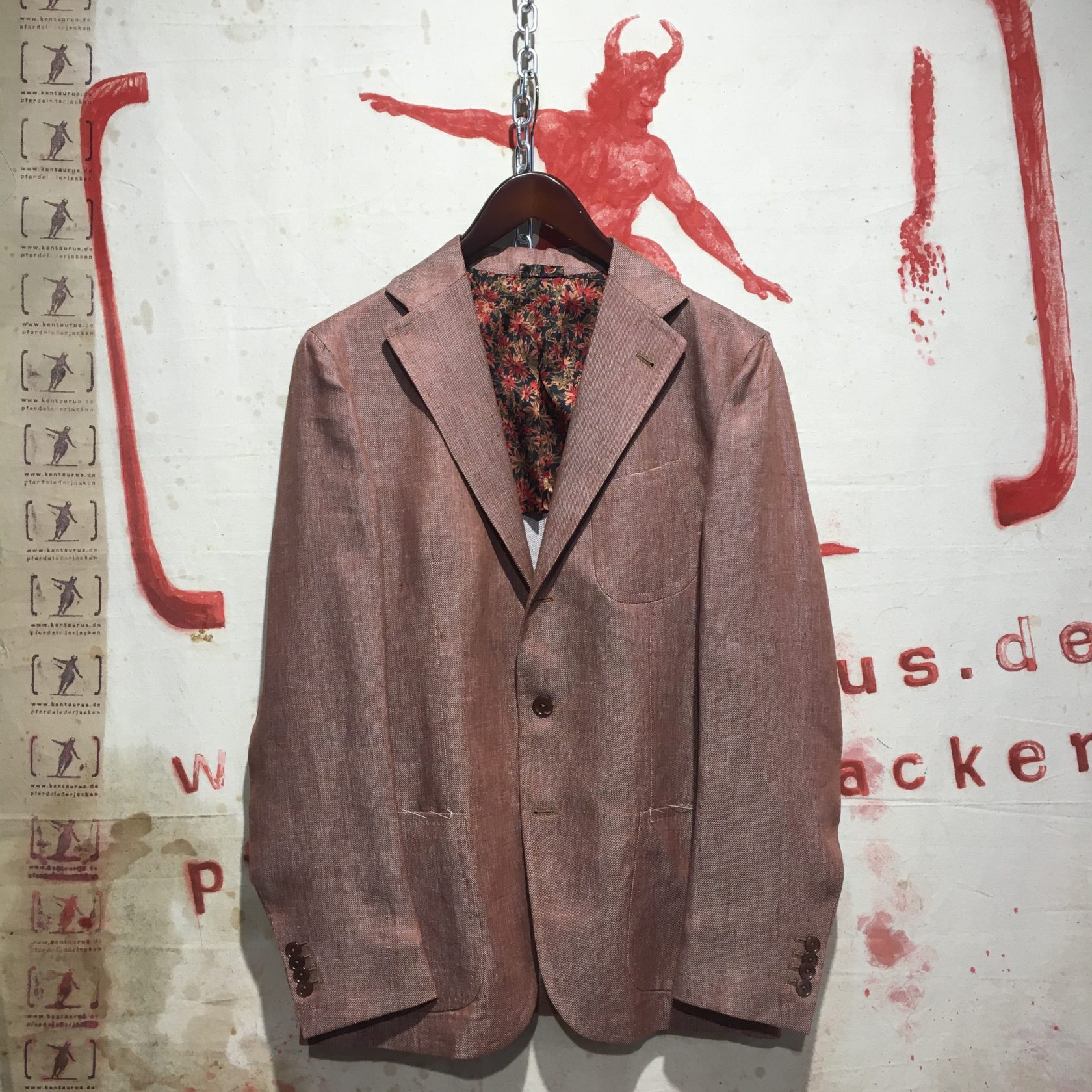 Piccolo Red Linen Jacket