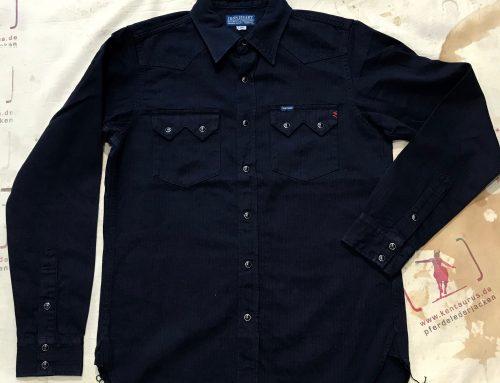 IHSH-198 indigo linen shirt