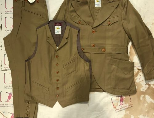 Adjustable Costume 3 piece camel twill cotton suit