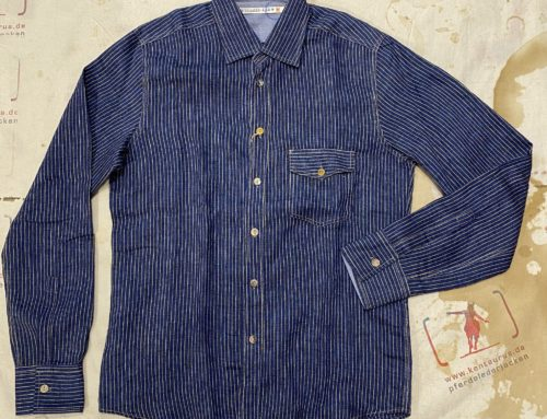 Scartilab 312SV911 yellow striped linen shirt