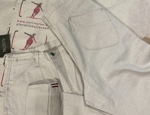 MotivMfg  white denim pant cotton linen