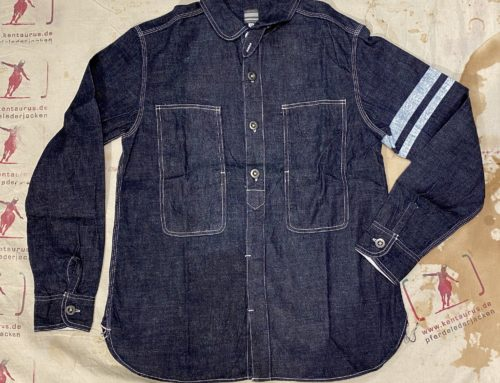 Momotaro SJ191  8oz jail pocket shirt indigo