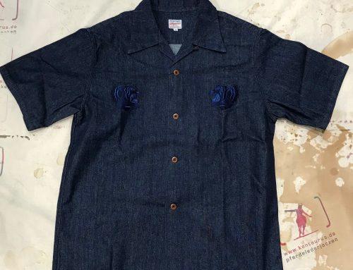 Momotaro souvenir shirt indigo