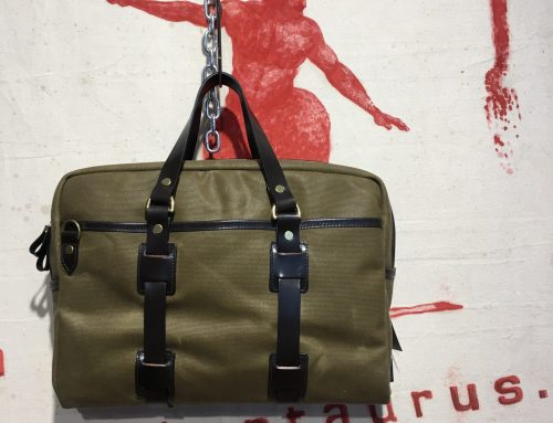 Croots vintage canvas bag olive