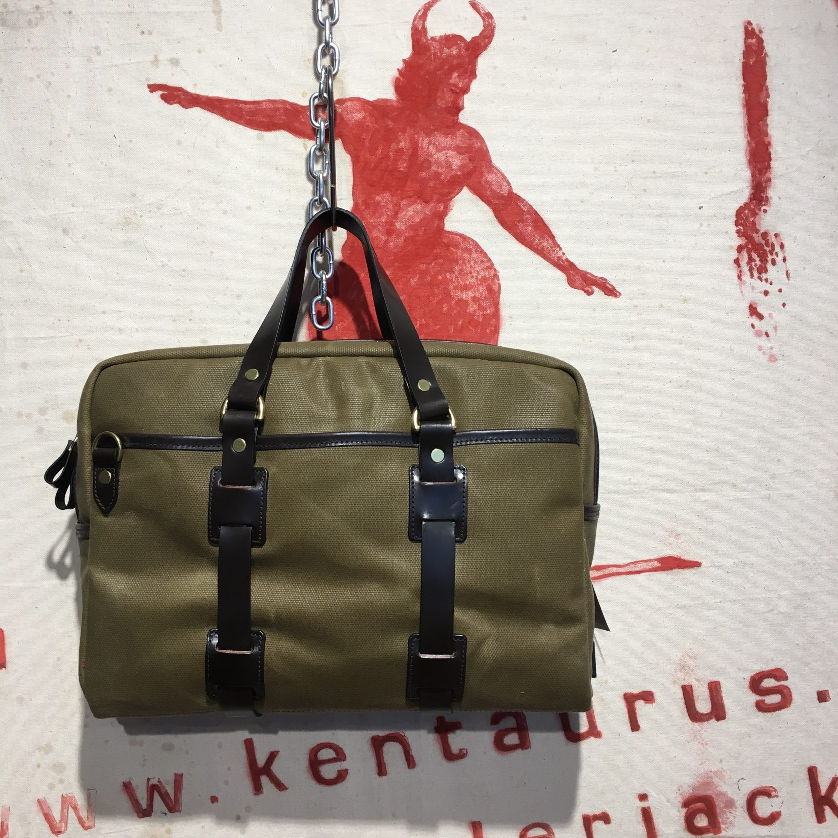Croots canvas bag olive