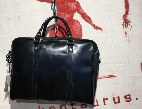 Croots leather laptop bag black