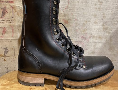 Dundas high leg boot black chromeexcel