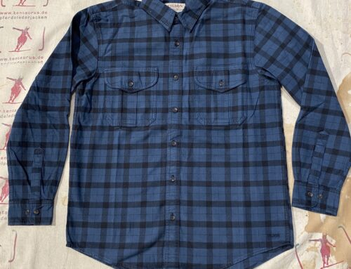 Filson alaskan guide shirt blue black