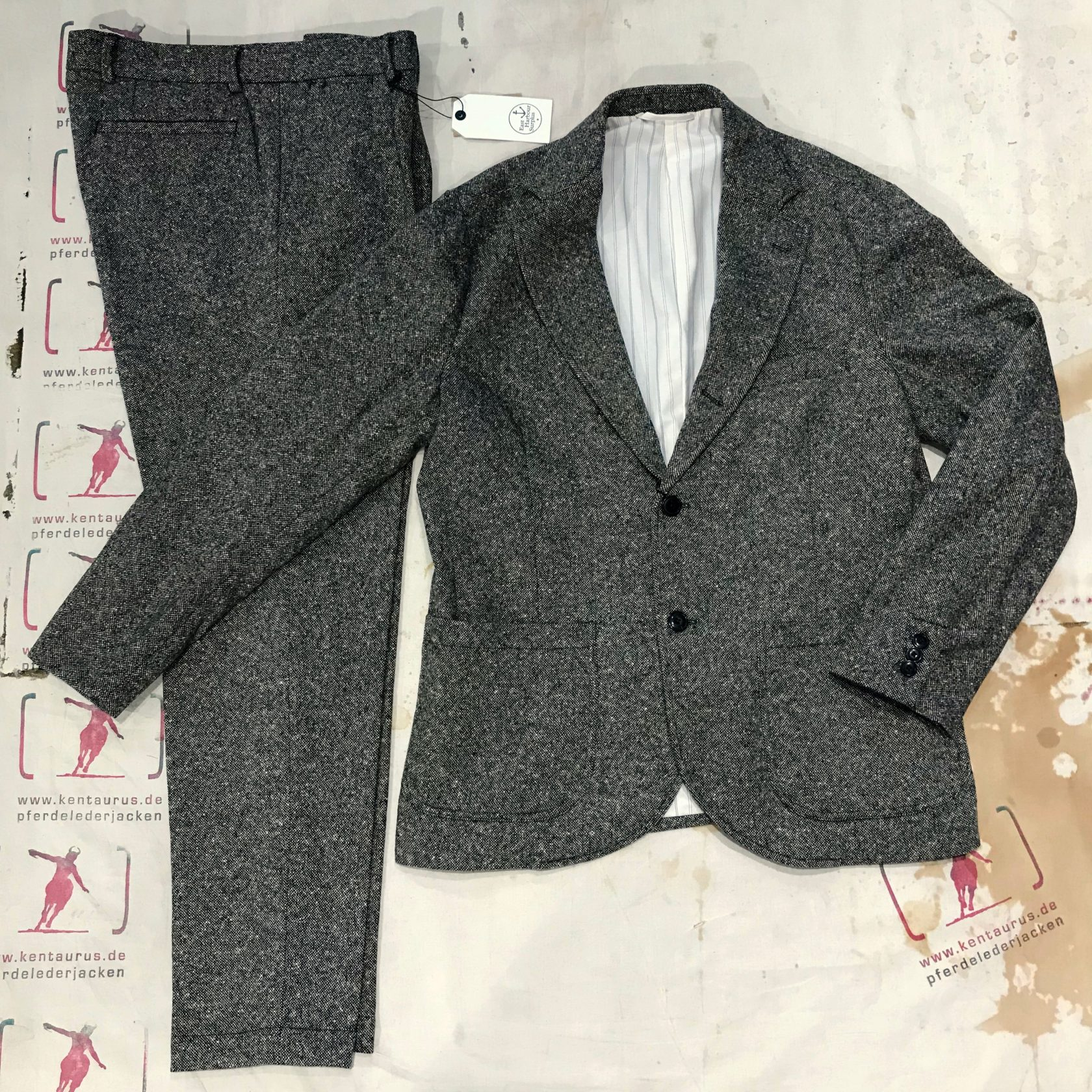 East Harbour Surplus wool suit grey AW18