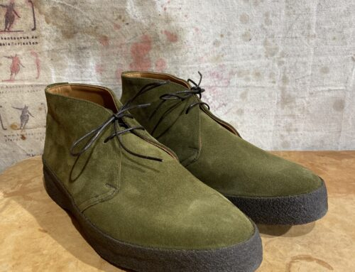 Sanders chukka moss green suede leather