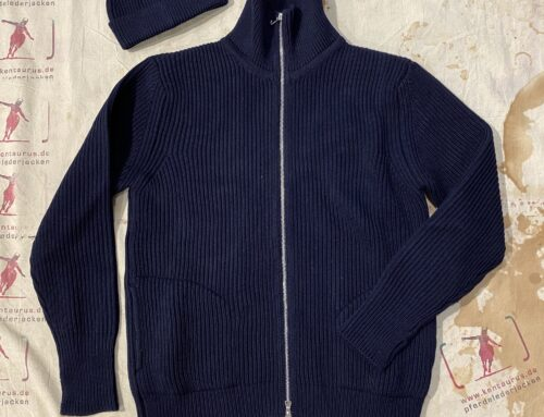Andersen&Andersen  navy full zip pocket pullover blue