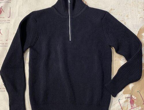 Andersen&Andersen  navy half zip pullover black