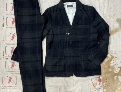 First Pat-rn man`s suit military check green/black