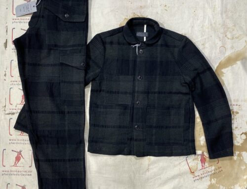 First Pat-rn ladies workshop jacket and strelka trousers military check