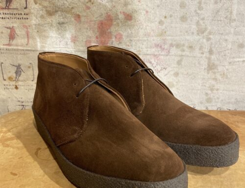 Sanders chukka hi top polo snuff suede brown