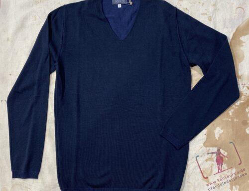 Seldom herren V- Pullover marine ( schwarz/blau)