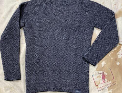 Seldom herren pullover wolle/alpaca hellgrau-anthrazit