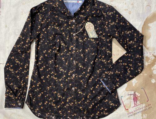 Scartilab W508SL246 Flower Shirt Brown
