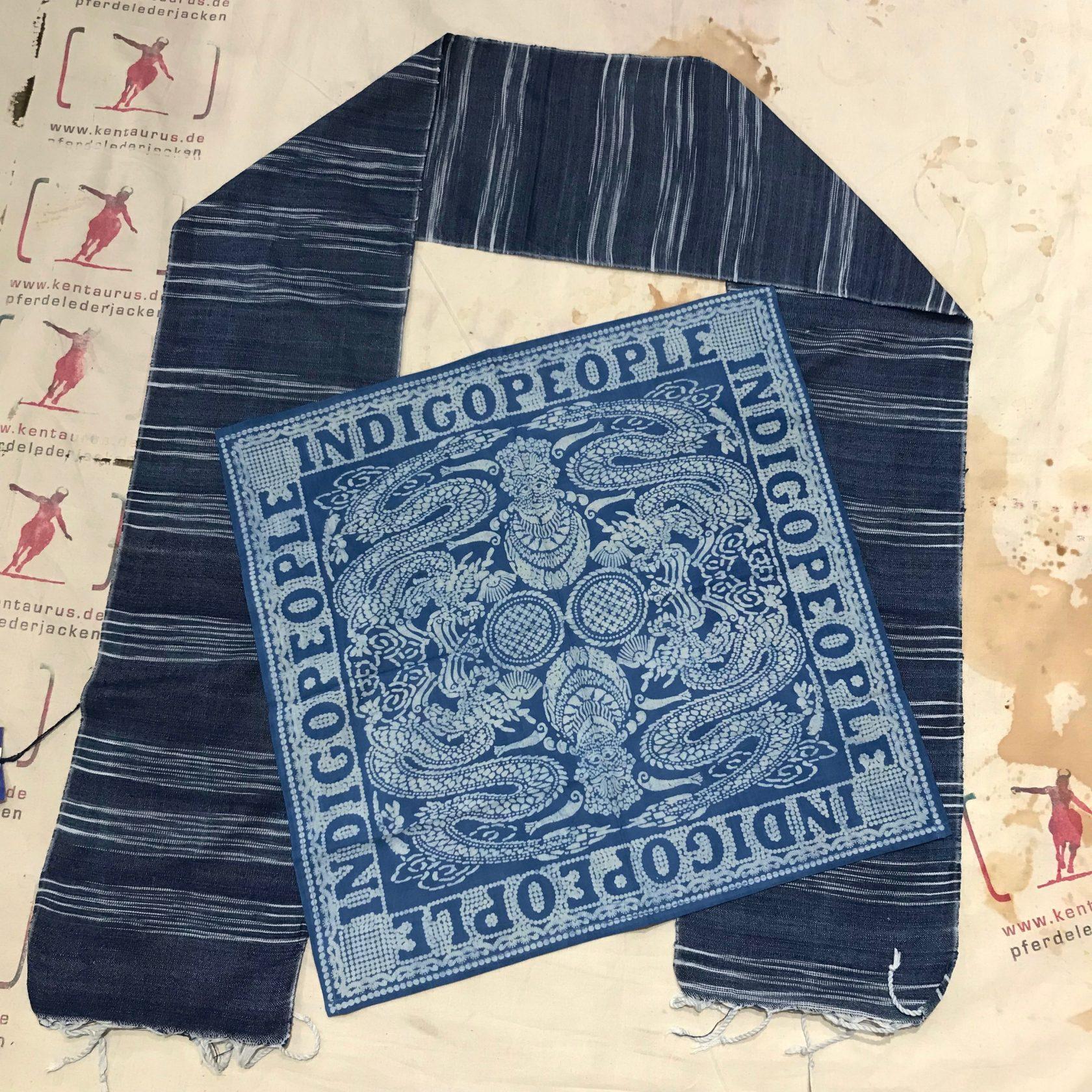 Indigo People: Schal und Bandana