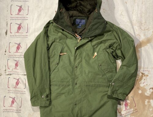 Ceccarelli long mountain jacket green wool padding