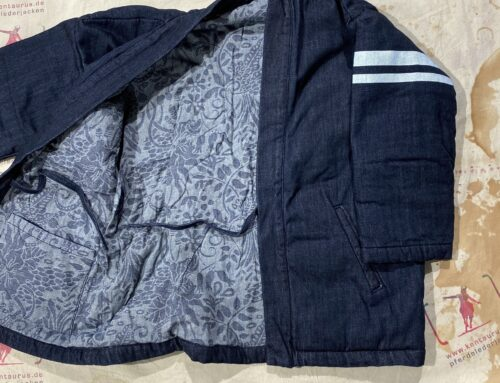 Momotaro padding denim reversible Hanten jacket