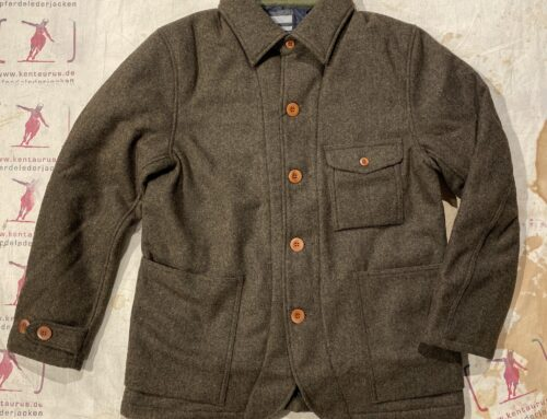 Momotaro melton wool french work jacket brown