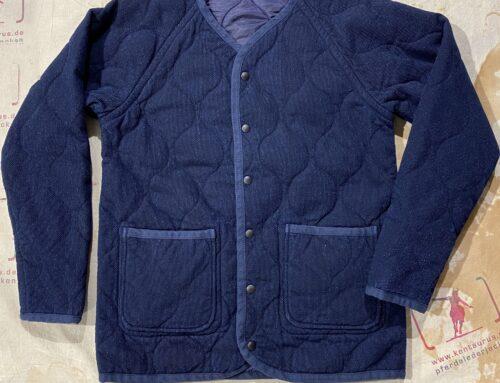 Momotaro dobby quilting reversible jacket indigo