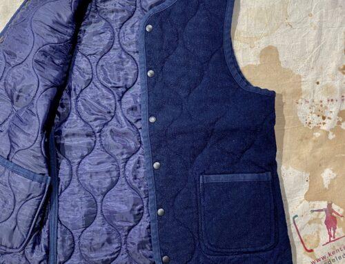 Momotaro dobby quilting reversible vest