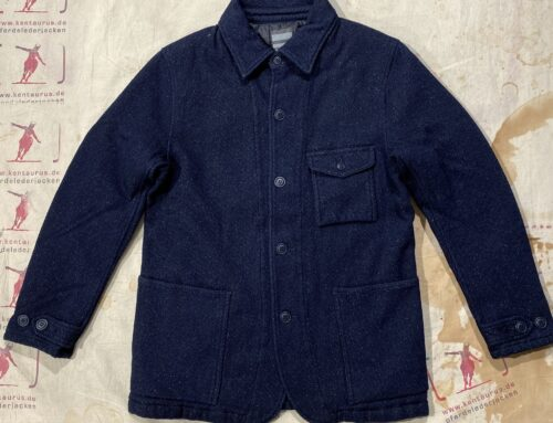 Momotaro cotton wool silk jacket indigo