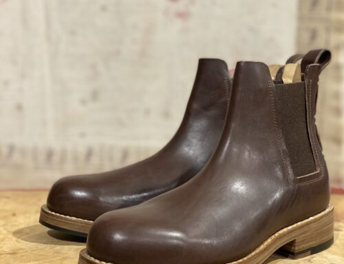 Feit chelsea rubber boot brown