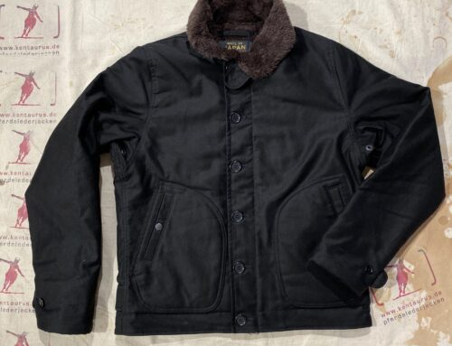 Iron Heart IHM-32 alpaca lined whipcord N1 deck jacket superblack