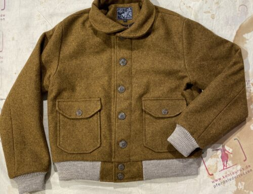 A Piece of Chic torpedo jacket heavy burel wool mustard