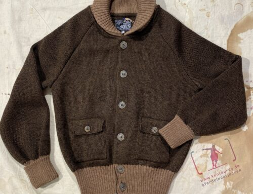 A Piece of Chic flight jacket  wool knit brown