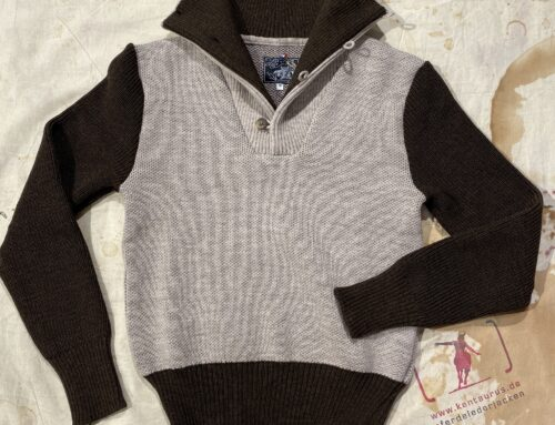 A Piece of Chic motordrome jumper brown/light grey
