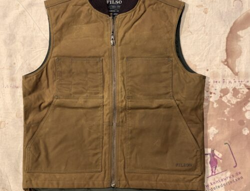Filson tin cloth insulated work vest