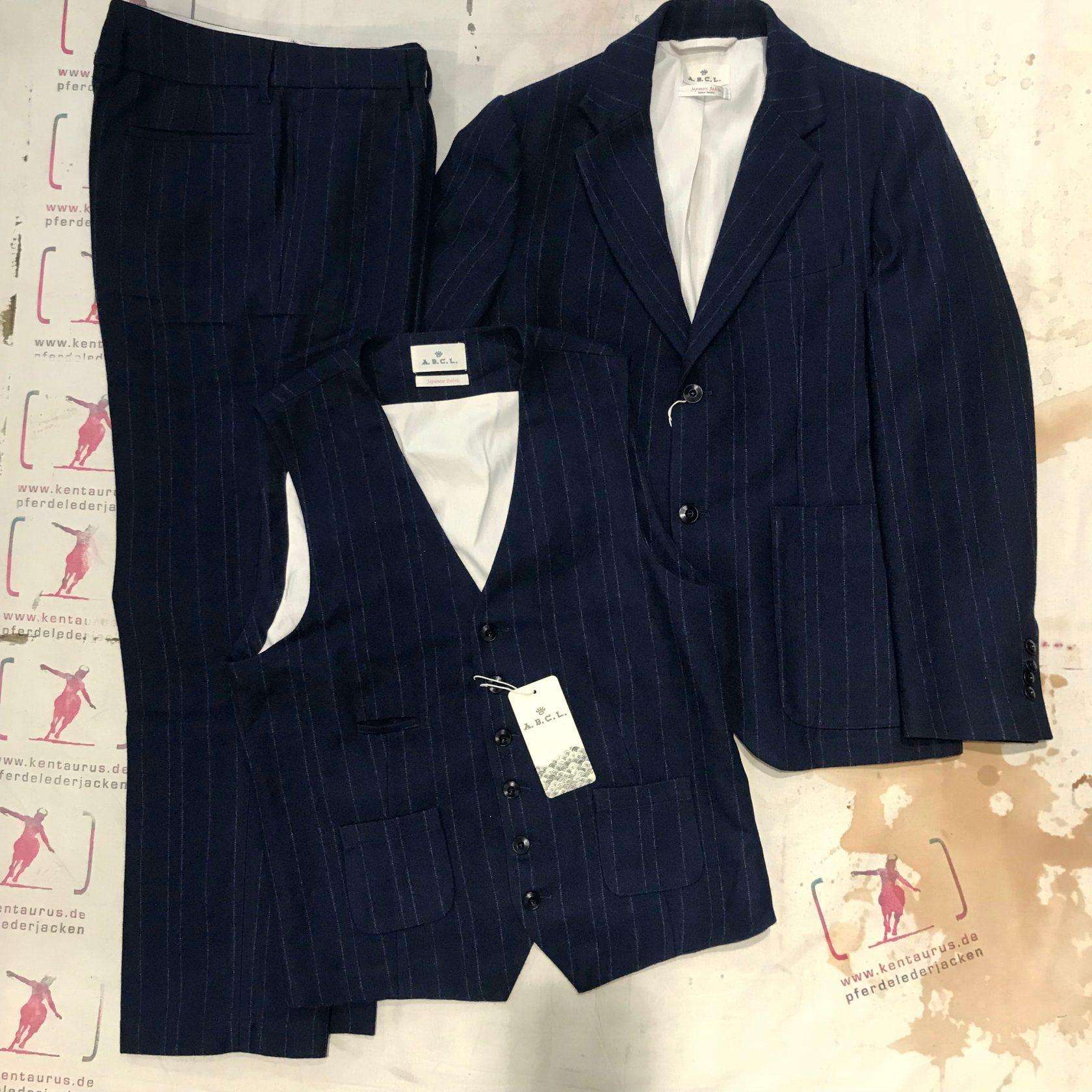 A.B.C.L. Japan 3 piece suit pinstripe